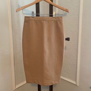 Robert Rodriguez Faux Leather Pencil Skirt